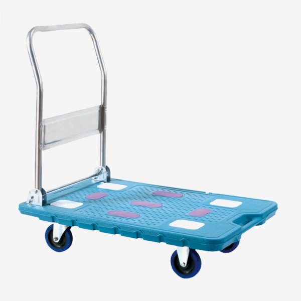 EQUAL Material Handling Rubber Anti - slip Technology Folding Platform Trolley for Heavy Weight, 300Kg Capacity, 90 x 60 CM Size