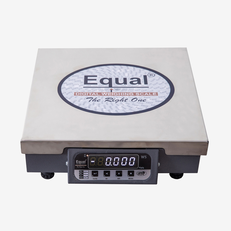 EQUAL Iron Digital Kitchen Weighing Scale with SS Platform (50 Kg, Grey)