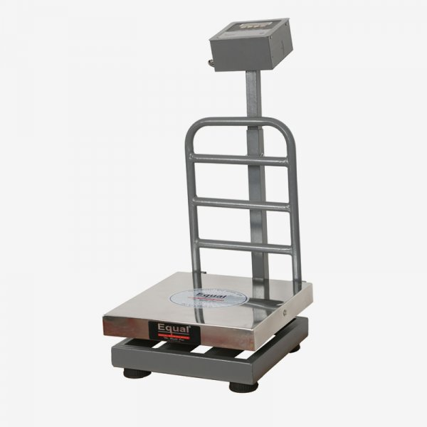 EQUAL Digital Weighing Scale, ISI Approved, 150Kg, Heavy Duty SS Platform, White LED Display