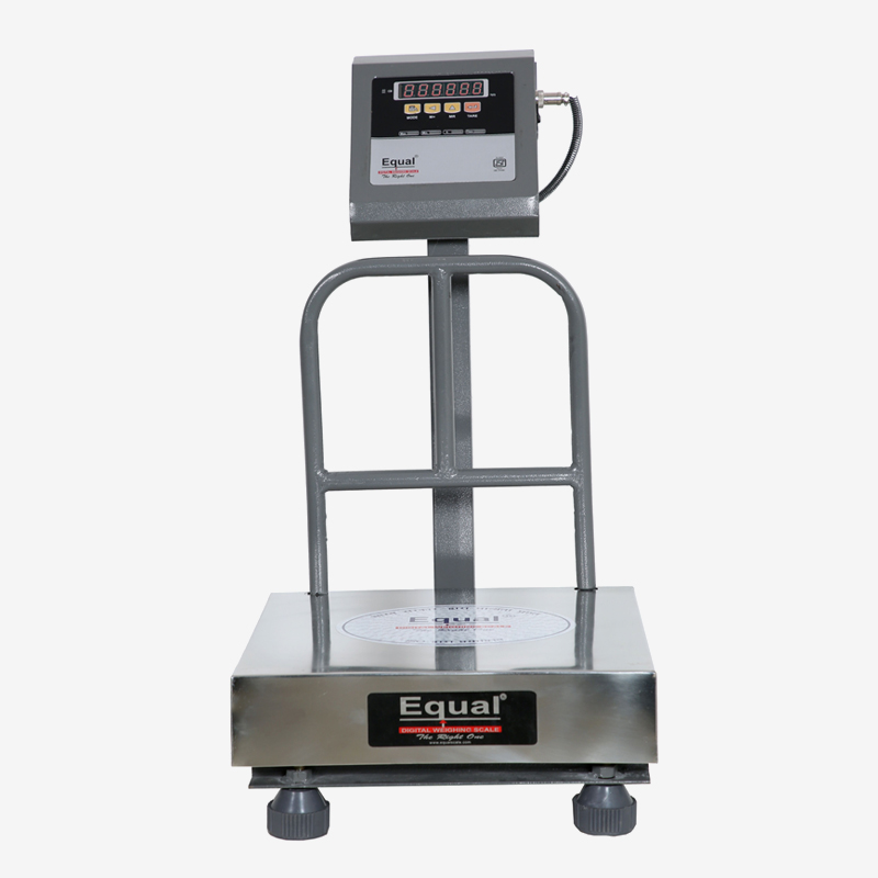 EQUAL Digital Weighing Scales, 120 Kg, Front & Back Red LED Double Display, SS Platform