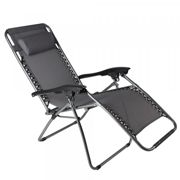 EQUAL Portable Zero Gravity Recliner Chair for Home, Silver Grey