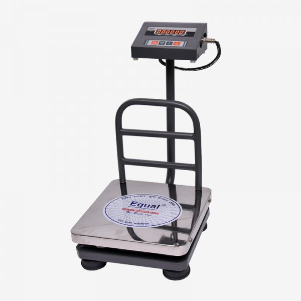 Equal Digital Weighing Bench Scale, 50Kg, SS Platform, Red Led Display