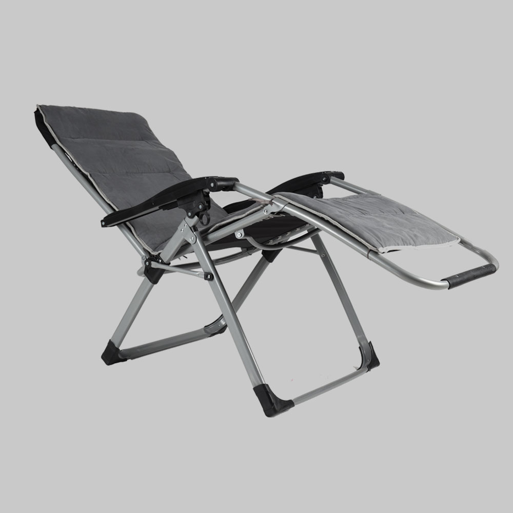 EQUAL Portable Zero Gravity Recliner Chair with Cushion Pad, Grey