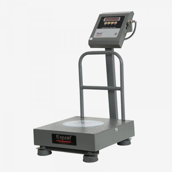 EQUAL Digital Weighing Scale, 120 Kg, Front & Back Red LED Double Display, MS Platform
