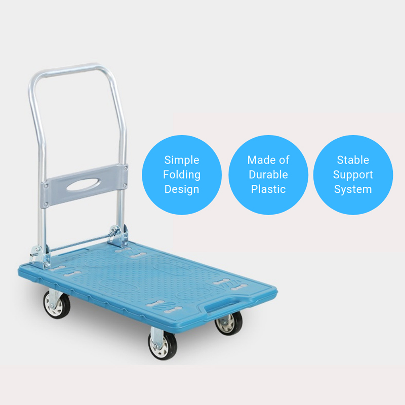 EQUAL Material Handling Ant slip Folding Platform Trolley for Heavy Weight, 150Kg Capacity, 72 x 47 CM Size
