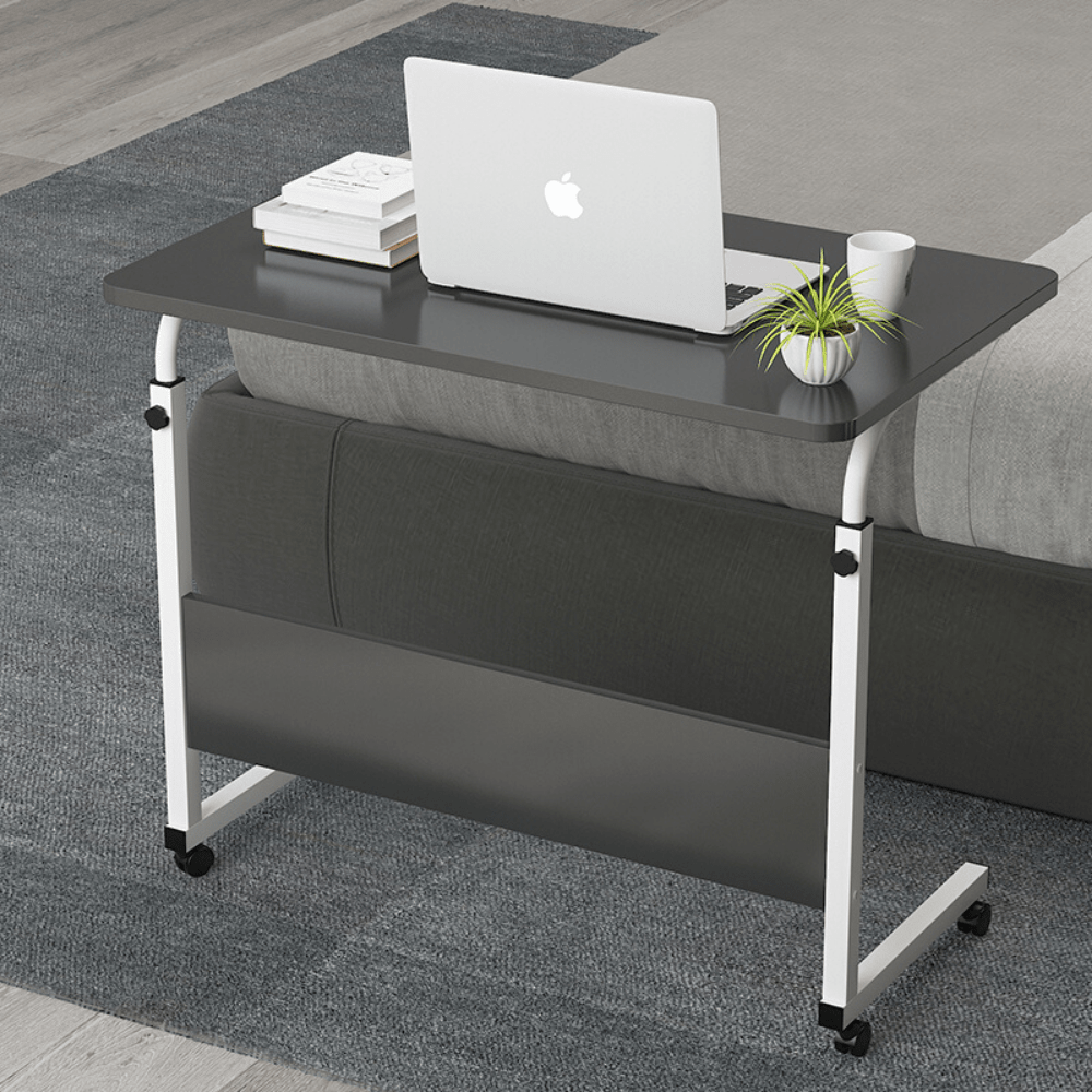 EQUAL Laptop Stand Adjustable Computer Standing Desk w/Wheels Portable Side Table for Bed, Sofa, Hospital, Reading & Eating; 60 x 40 CM