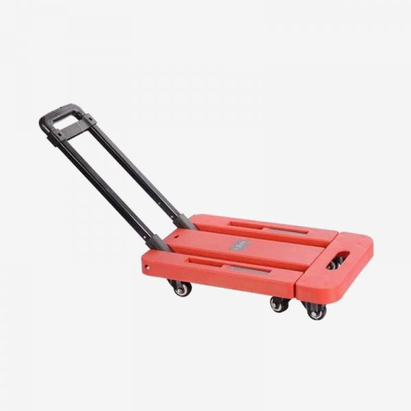 EQUAL Foldable Platform Trolley for Lifting Heavy Weight, Red Color, 200 Kg Capacity, 5 Inch wheel