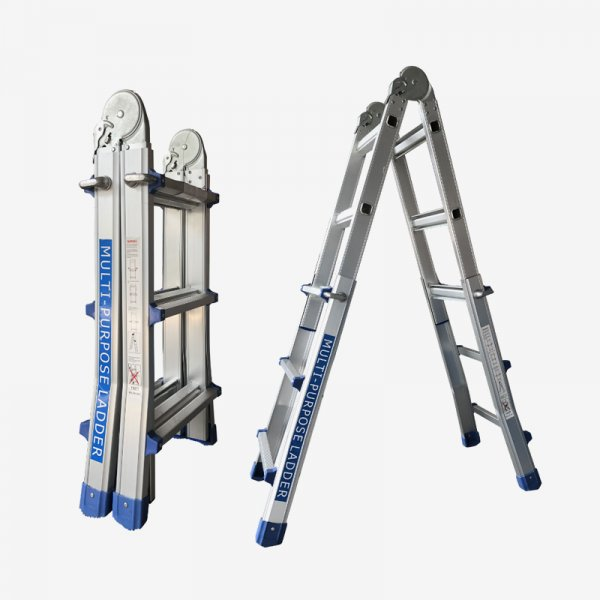 EQUAL 10 Feet Premium Multi-Use Aluminium Ladder for Home, 4 x 3 Step Ladder