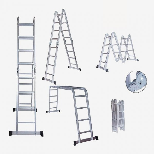Foldable And Adjustable Multipurpose Aluminium Super Ladder for Home and Industrial purpose, 15 Feet