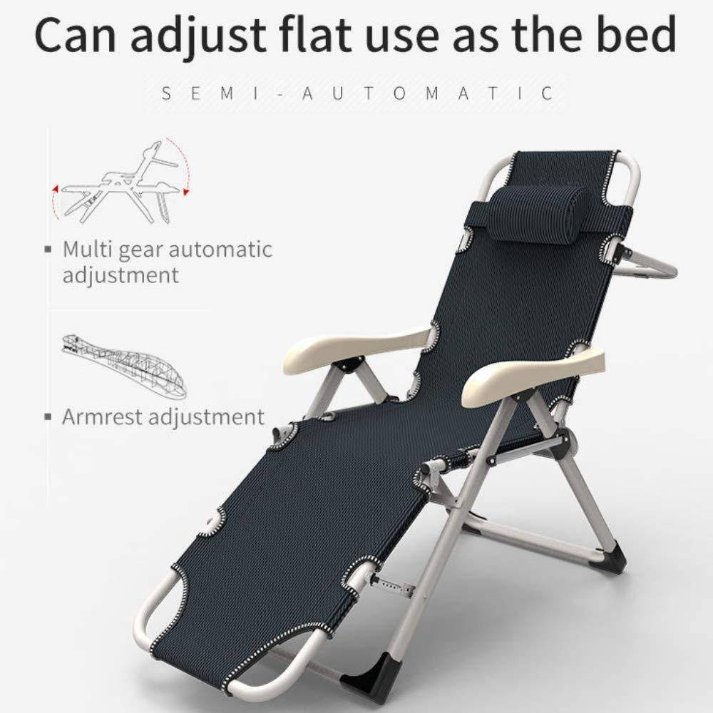 - EQUAL - Portable & Adjustable Folding Steel Recliner Chair/Bed